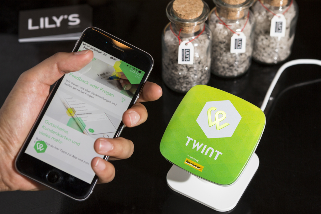 L'application Twint permet l'achat sans contact via un smartphone.