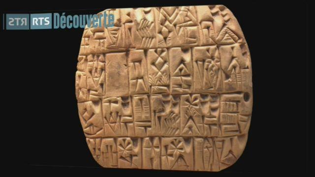 De l'écriture protocunéiforme au cunéiforme, de la langue sumérienne à l'akkadien [RTS]