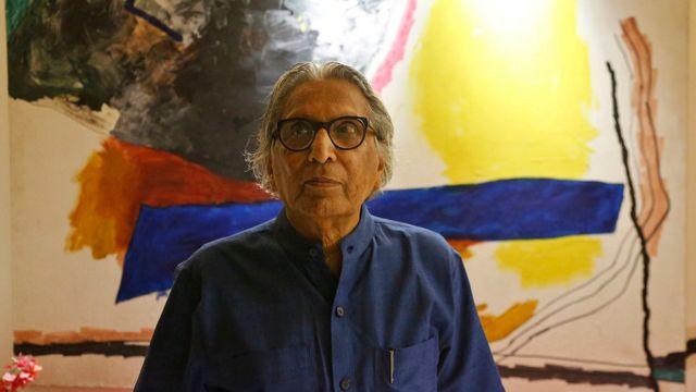 L'architecte Balkrishna Doshi vainqueur du prix Pritzker 2018. [Ajit Solanki - AP Photo]