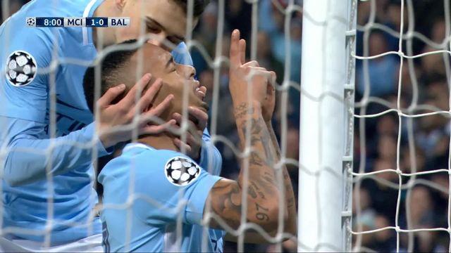 1-8e de finale, Manchester City - FC Bâle (1-0): Gabriel Jesus 8e [RTS]