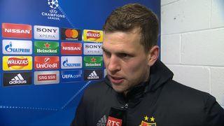 1-8e de finale, Manchester City - FC Bâle (1-2): la réaction de Fabian Frei après le match [RTS]