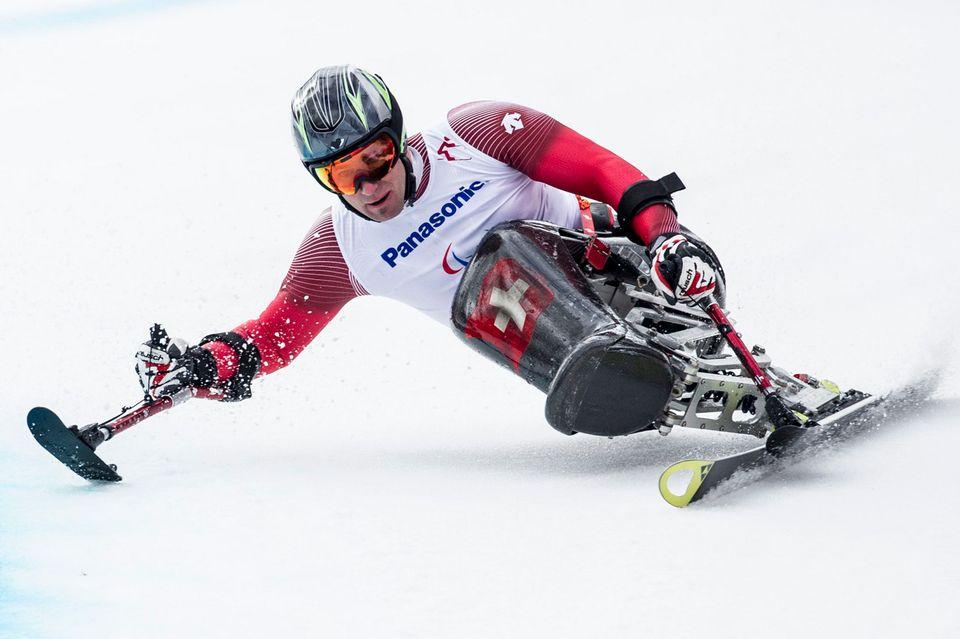 Christoph Kunz avait ramené l'unique médaille helvétique à Sotchi en 2014. [Ennio Leanza - Keystone]