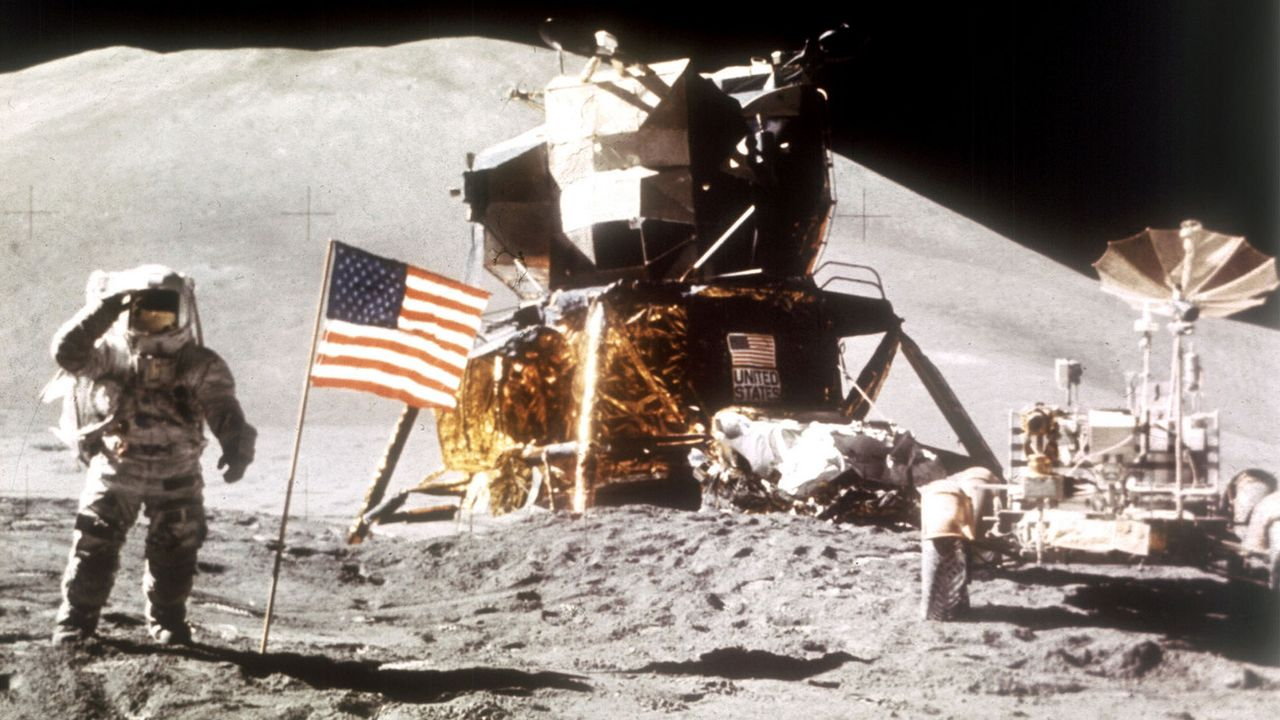 Les missions Apollo ont laissé derrières elles de nombreux déchets sur la Lune. [NASA/AP/Keystone]
