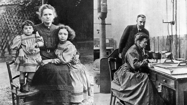 Les Vies de Marie Curie dans une BD [Unknow - Wikimedia Commons]