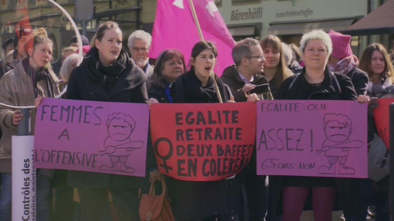 Manifestation à Berne pour l'égalité des salaires [RTS]