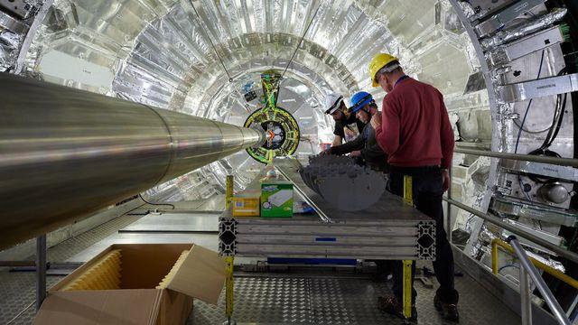 Vue sur l'intérieur du CERN à Genève (photo prétexte). [CERN/EPA/Keystone]