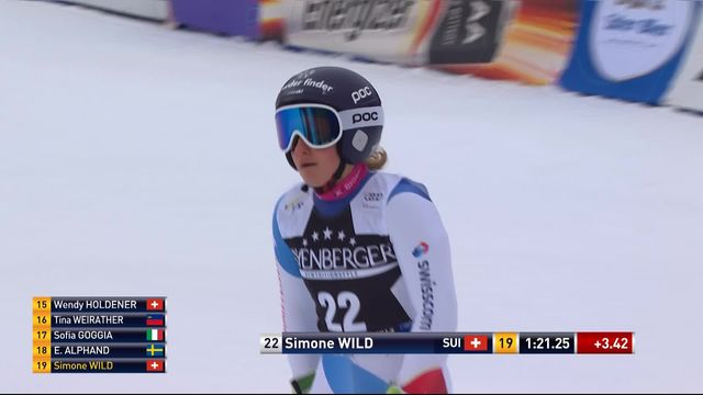 Ofterschwang (GER), Géant dames, 1re manche: Simone Wild (SUI) [RTS]