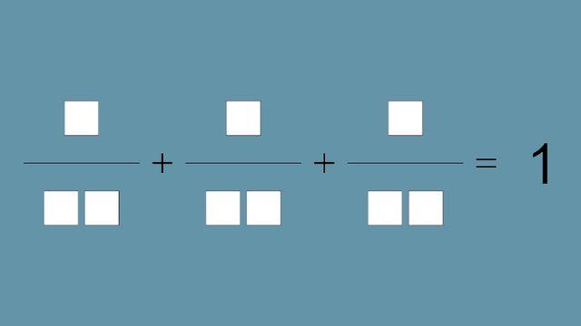 En utilisant le chiffres de 1 à 9 chacun une fois, remplissez les cases de telle sorte que la somme soit correcte. [Shaula Fiorelli Vilmart - Mathscope, UNIGE]