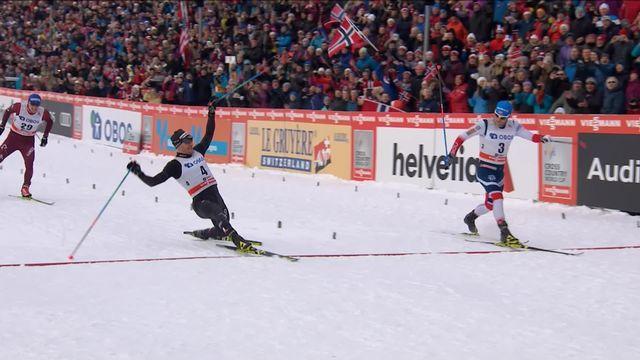 Oslo (NOR), 50km messieurs: Dario Cologna remporte le 50km à la photo finish! [RTS]
