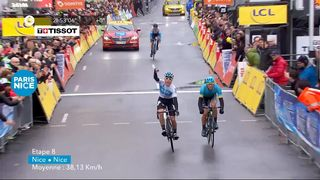 Paris-Nice, étape 8: victoire de David De La Cruz (ESP) [RTS]