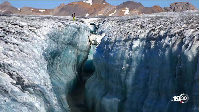 Les eaux du glacier de la Plaine-Morte menace le village bernois de la Lenk [RTS]