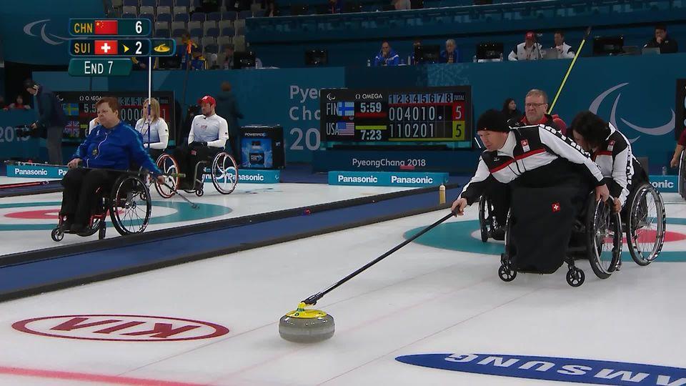 Mixte, CHN-SUI 8-2: défaite de l'équipe de Suisse [RTS]