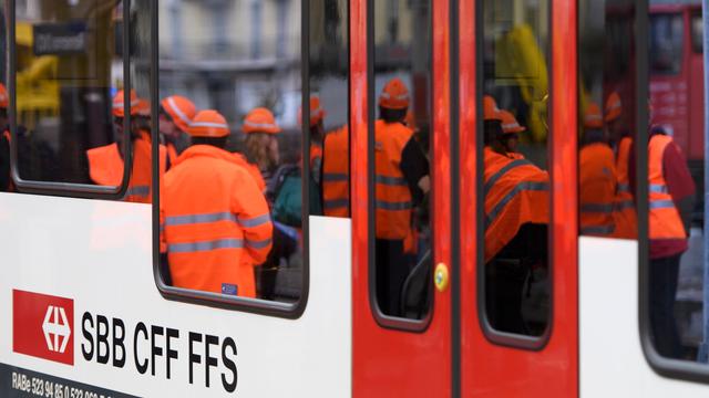 Objectif 2030, des travaux dans les grandes gares suisses. [LAURENT GILLIERON - KEYSTONE]
