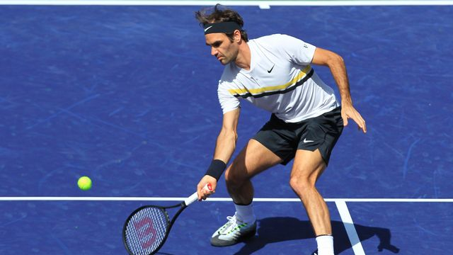 Federer a laissé une belle impression contre Karjinovic lundi. [Crystal Chatham - Keystone]