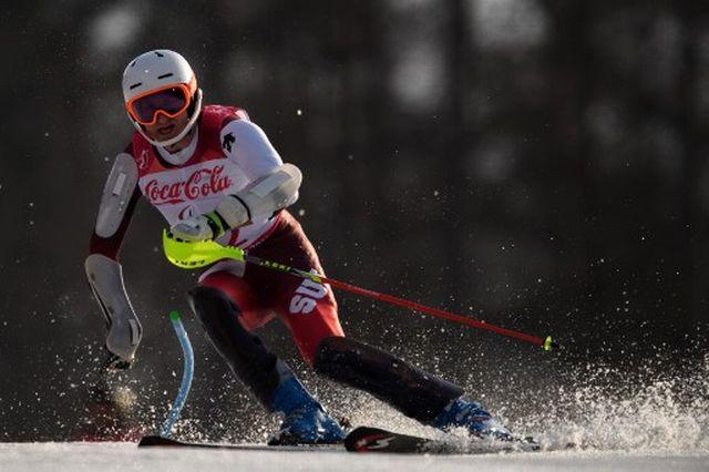 Thomas Pfyl a été le meilleur Helvète de la nuit dans les épreuves de ski alpin. [Joel Marklund - AFP]