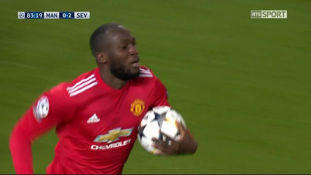 1-8e de finale, Manchester United – Séville (1-2): 84e Lukaku [RTS]