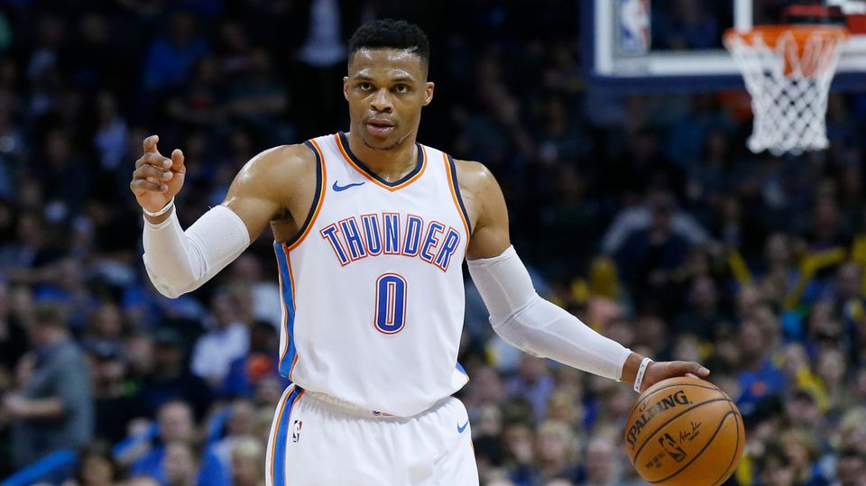 Russell Westbrook entre dans l'histoire de la NBA. [Sue Ogrocki - Keystone]