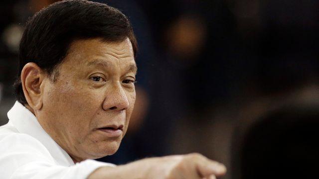 Rodrigo Duterte à Manille en octobre 2017. [Aaron Favila - AP Photo]