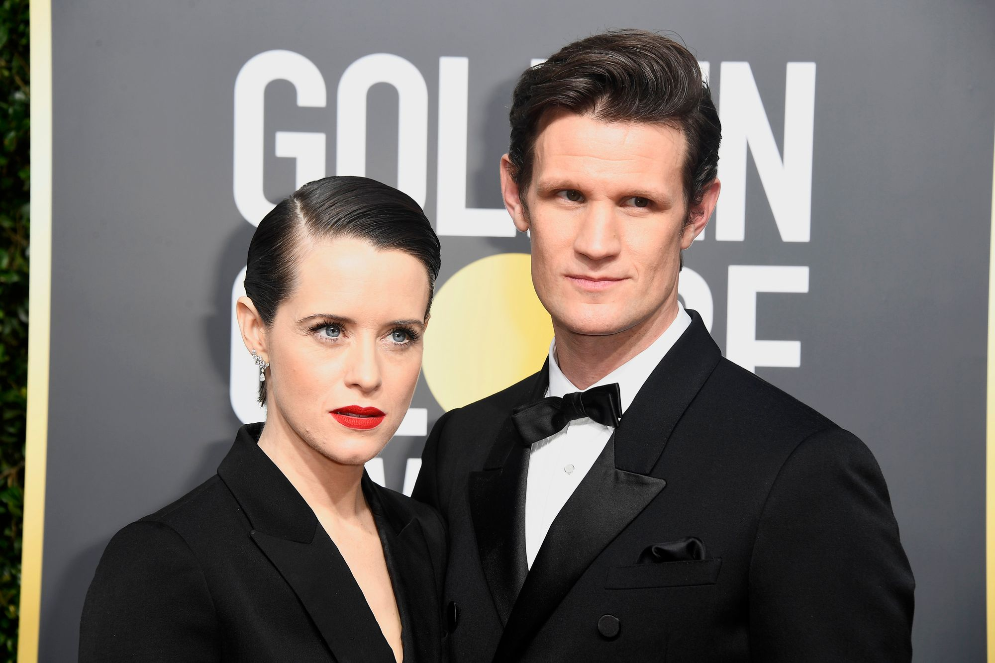 L'actrice Claire Foy et Matt Smith aux Golden Globe Awards en 2018.