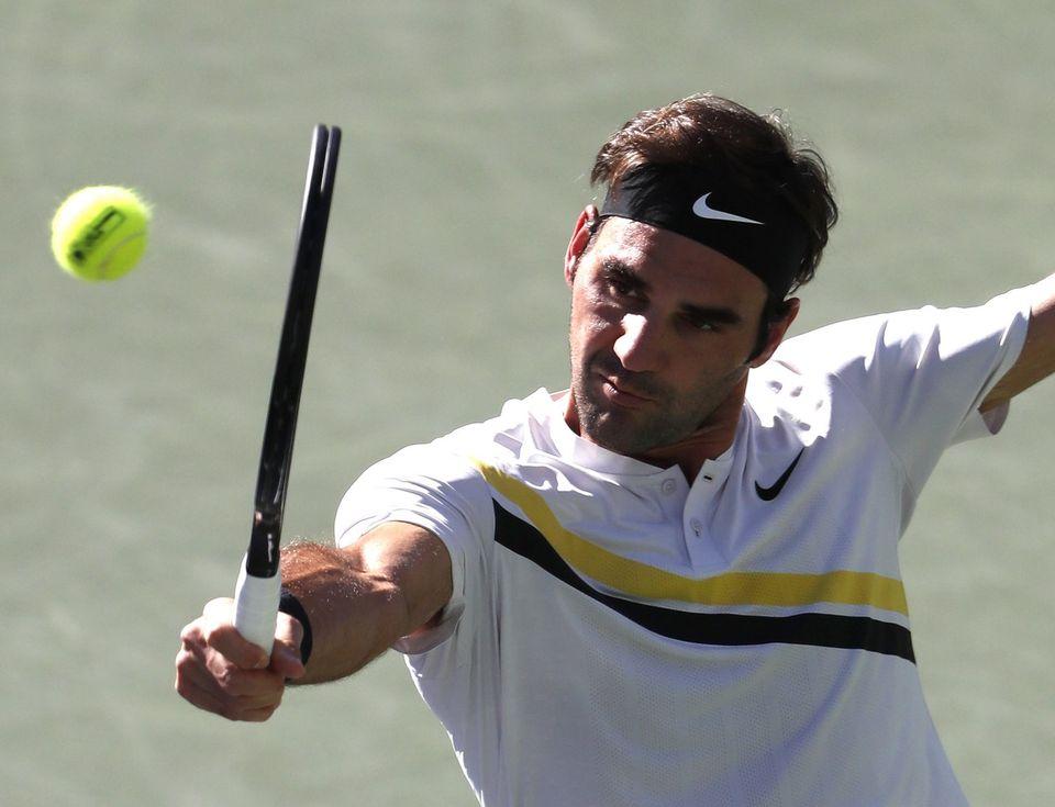 Roger Federer défie Jérémy Chardy mercredi soir. [Mike Nelson - Keystone]