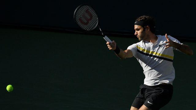 Federer conservera sa place de no 1 mondial en cas de succès face à Hyeon Chung. [Mark J. Terrill - Keystone]