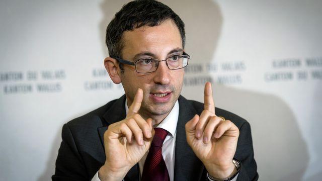 Le conseiller d'Etat valaisan Frédéric Favre. [Olivier Maire - Keystone]