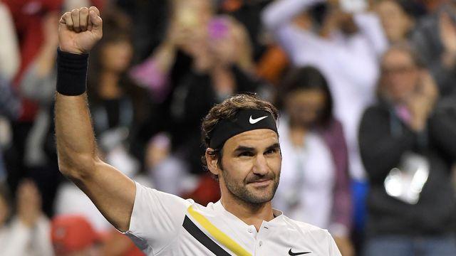 Federer a réussi un total de 32 coups gagnants face au Sud-Coréen. [Mark J. Terrill - Keystone]