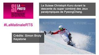 Si la photo est bonne - Le skieur suisse Christoph Kunz à PyeongChang. [Simon Bruty - Keystone]