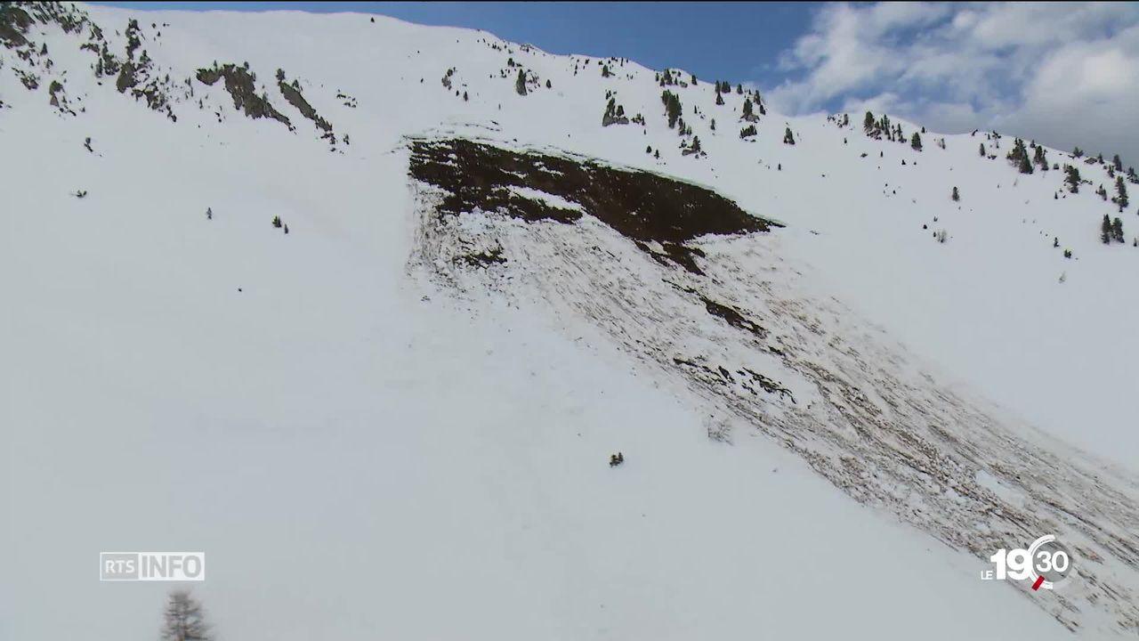 Riddes: plusieurs personnes emportées par une avalanche [RTS]