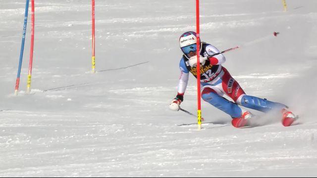 Are (SWE), Slalom dames 2e manche: Michelle Gisin (SUI) [RTS]