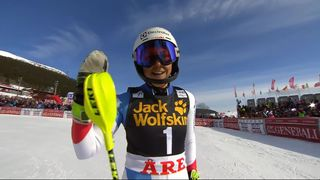 Are (SWE), Slalom dames 2e manche: Wendy Holdener (SUI) [RTS]