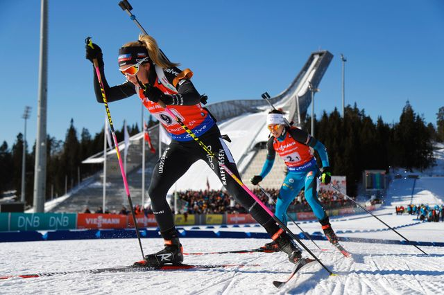 Elisa Gasparin et les Suissesses ont tiré leur épingle du jeu dans le relais. [Heiko Junge - Keystone]
