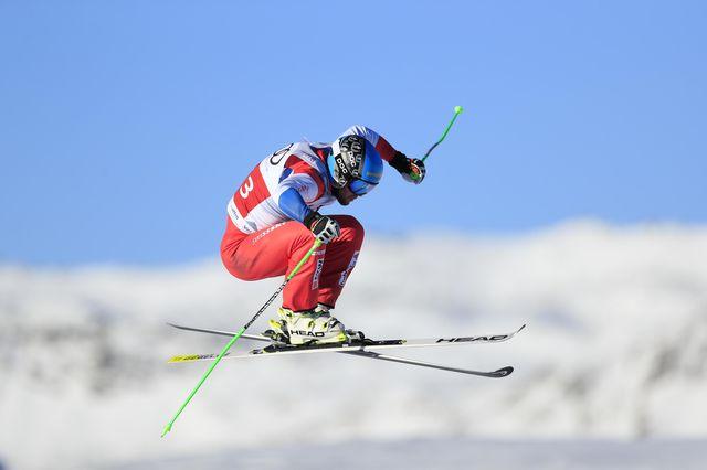 Vice-champion olympique, Marc Bischofberger conclut sa saison avec le globe. [Richard Martin - Freshfocus]