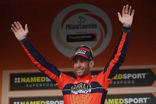 Nibali remporte la première des cinq grands classiques de la saison. [Marco Bertorello - AFP]