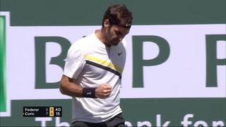Indian-Wells (USA), ½ finale, Federer (SUI) – Coric (CRO) 5-7 6-4: Federer égalise à un set partout [RTS]
