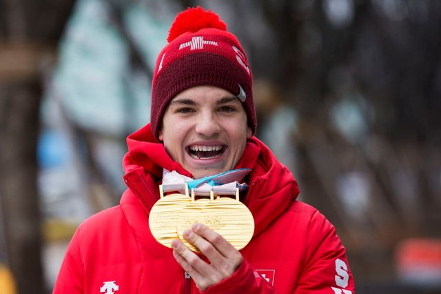 Théo Gmür gardera un souvenir impérissable de ses premiers Jeux paralympiques. [Alexandra Wey - Keystone]