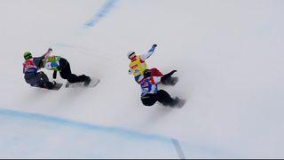 Snowboard cross, par équipe : Tandler-Watter (SUI) ne se qualifient pas pour les 1-2 [RTS]