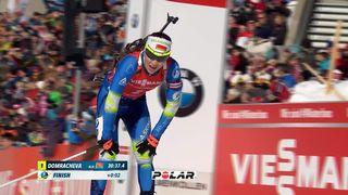 Biathlon, poursuite dames: Domracheva (BLR) gagne devant Kuzmina (SVK) et  Dunklee (USA) [RTS]