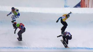 Snowboard cross, par équipe : Berg- Schad (GER) gagnent en finale [RTS]