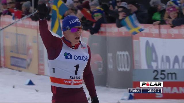 Poursuite 15km hommes: Victoire pour Bolshunov (RUS), Cologna (SUI) 3e [RTS]