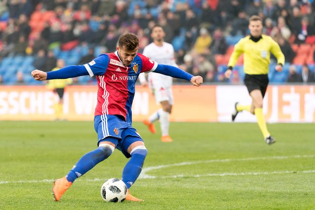 Ajeti a inscrit le seul but du match face aux Valaisans. [Georgios Kefalas - Keystone]