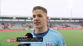 26e journée, Thoune - Lausanne (0-0): Castella au micro de RTSsport à la fin du match [RTS]
