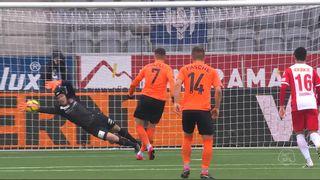 26e journée, Thoune - Lausanne (0-0): le penalty manqué de Kololli [RTS]