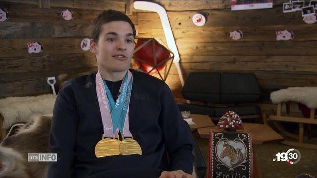 Jeux paralympiques, portrait de Théo Gmür, un athlète en or [RTS]