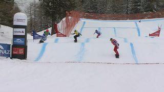 Snowboard cross: Allemands et Françaises victorieux à Veysonnaz [RTS]