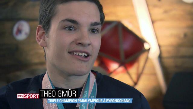 Jeux paralympiques de Pyeongchang: entretien avec Théo Gmür qui a rapporté trois belles médailles d'or pour le clan suisse [RTS]