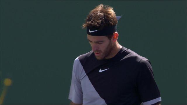 Indian-Wells (USA), finale, Federer (SUI) – Del Potro (ARG) 4-6: Del Potro remporte la première manche [RTS]