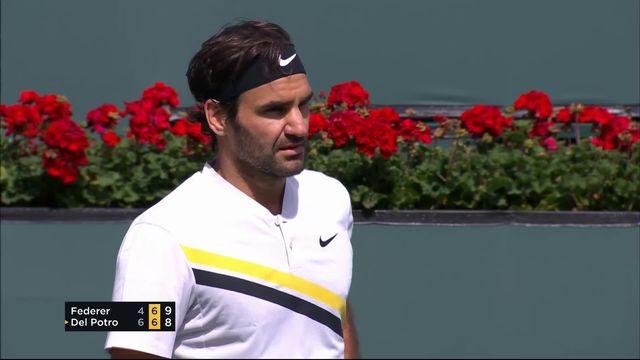 Indian-Wells (USA), finale, Federer (SUI) – Del Potro (ARG) 4-6 7-6: Federer égalise à un set partout au tie-break (10-8) [RTS]