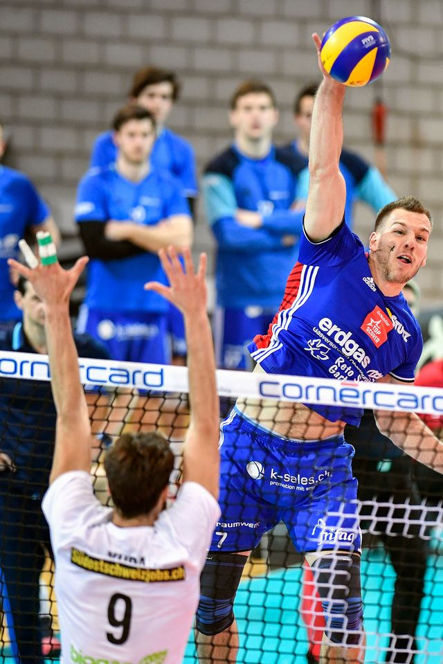 Volleyball, coupe de Suisse, finale messieurs [Peter Schneider - Keystone]