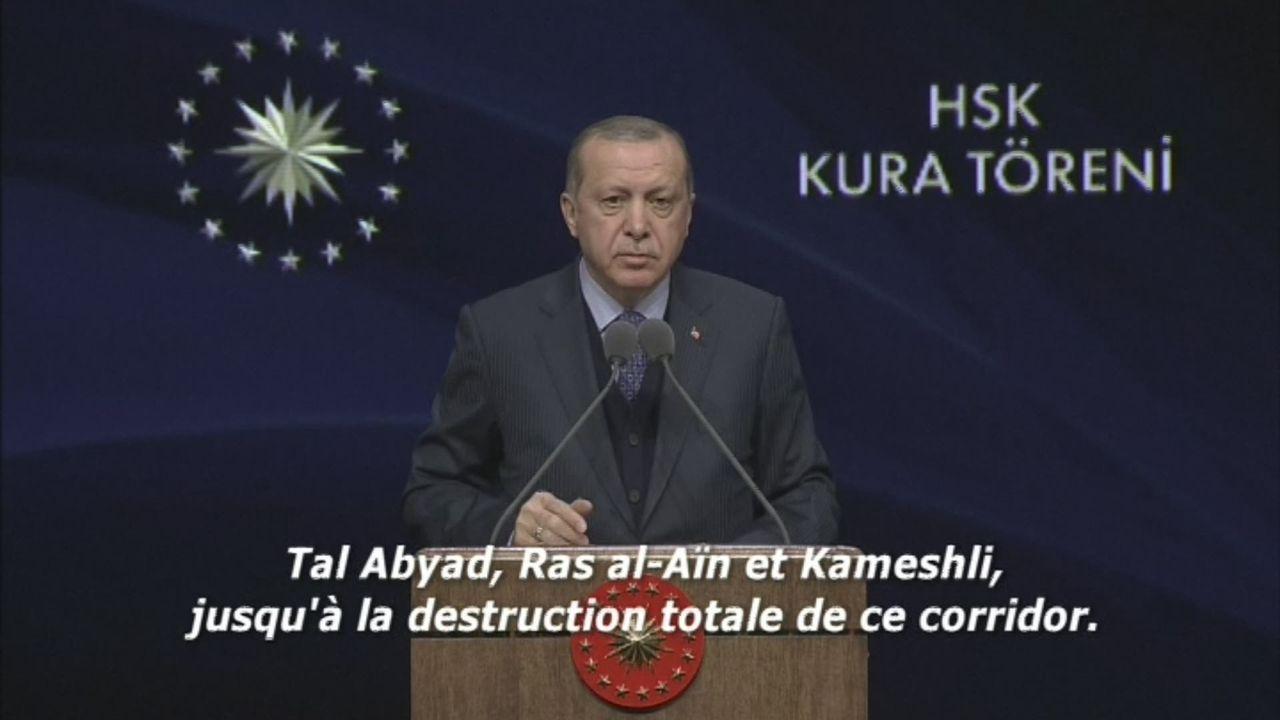 Le président turc ne va pas s'arrêter à Afrine [RTS]